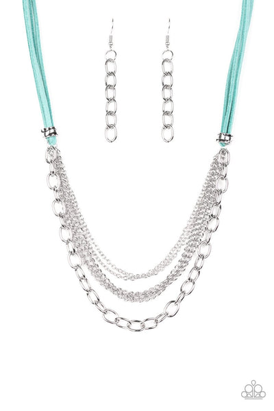 Paparazzi Free Roamer - Necklace Blue Box 41