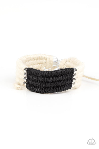 Paparazzi Hot Cross BUNGEE - Urban Bracelet Black Box 68