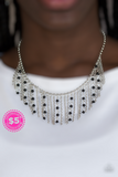 Paparazzi Harlem Hideaway - Necklace Black Box 55