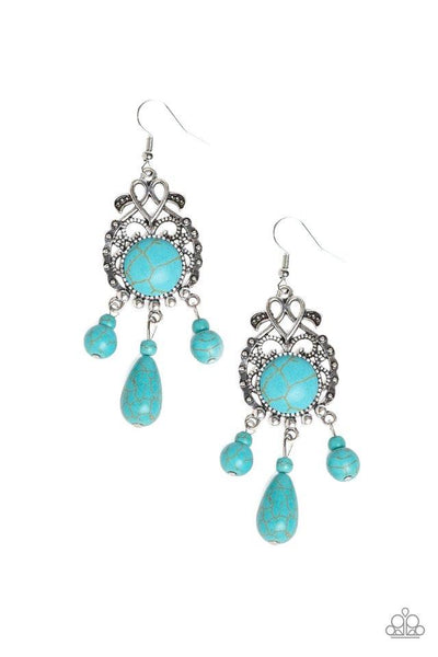 Paparazzi Stone Bliss - Earrings Blue Box 84