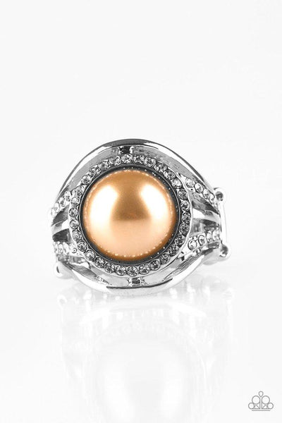 Paparazzi Pampered In Pearls - Ring Brown Box 87