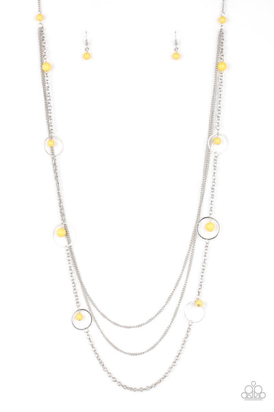 Paparazzi Collectively Carefree - Necklace Yellow Box 49
