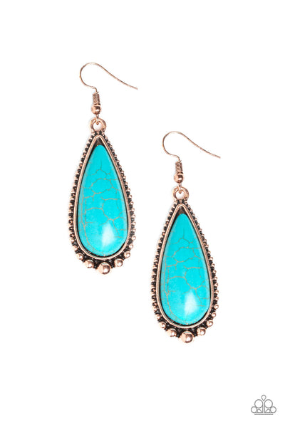 Paparazzi Desert Quench - Earrings Copper Box 29