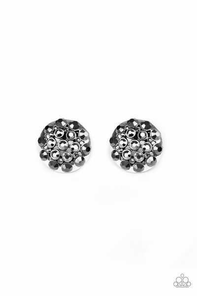 Paparazzi Hollywood Drama - Earrings Silver Box 10