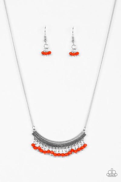 Paparazzi Fringe Fever - Necklace Red Box 22