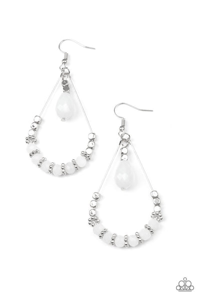 Paparazzi Lovely Lucidity - Earrings White Box 82