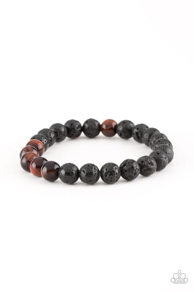 Paparazzi Meditation - Bracelet Urban Black Stone Box 19