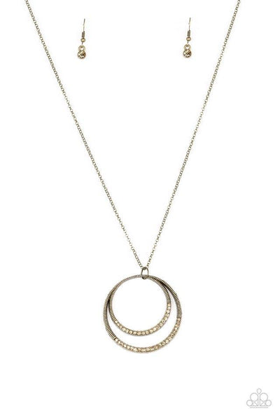 Paparazzi Front and Epicenter - Necklace Brass Box 84