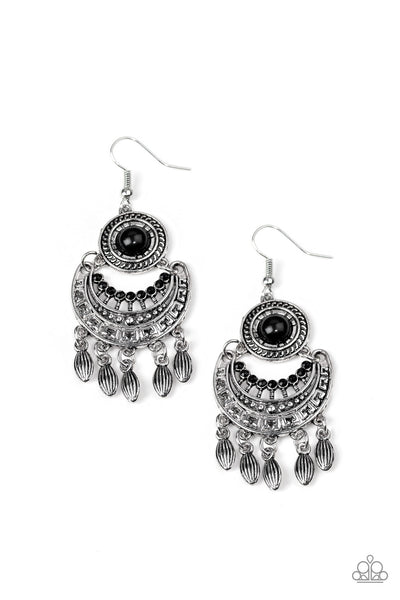 Paparazzi Mantra to Mantra - Earrings Black Box 53