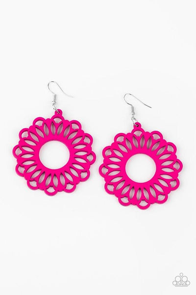 Paparazzi Dominican Daisy -  Earrings Pink Box 84