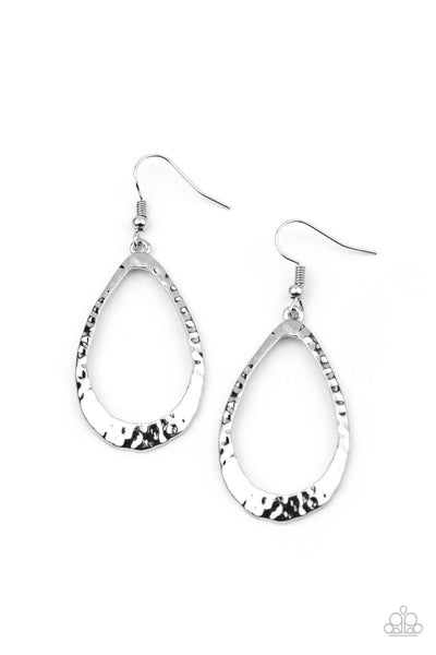 Paparazzi Bevel-Headed Brilliance - Earrings Silver Box 79