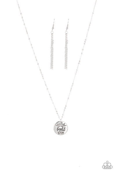Paparazzi Let Your Light So Shine - Necklace Silver Box 12