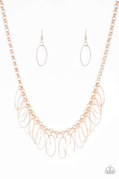 Paparazzi Fringe Finale - Necklace Rose Gold Box 47