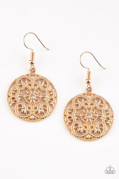 Paparazzi Rochester Royale - Earrings Gold Box 45