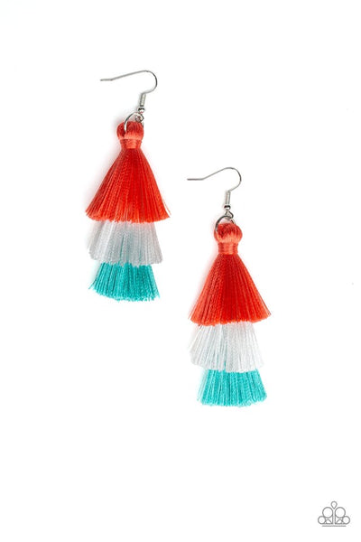 Paparazzi Hold On To Your Tassel! - Earrings Orange Box 18