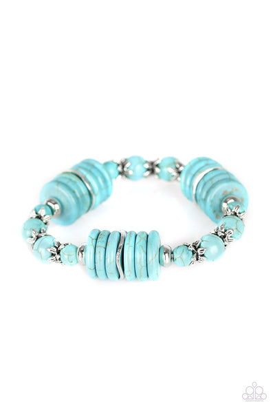 Paparazzi Sagebrush Serenade - Bracelet Blue Box 1