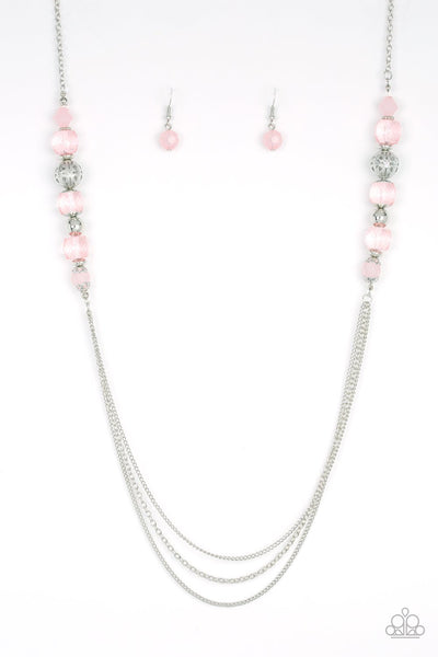 Paparazzi Native New Yorker - Necklace Pink Box 57