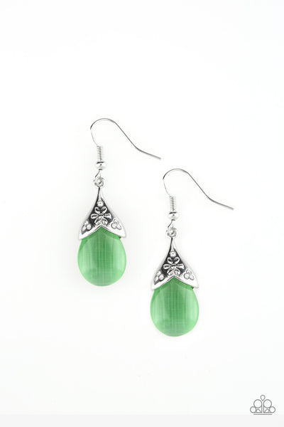 Paparazzi Spring Dew - Earrings Green Box 7