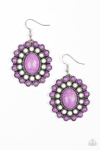 Paparazzi Stone Solstice - Earrings Purple Box 37