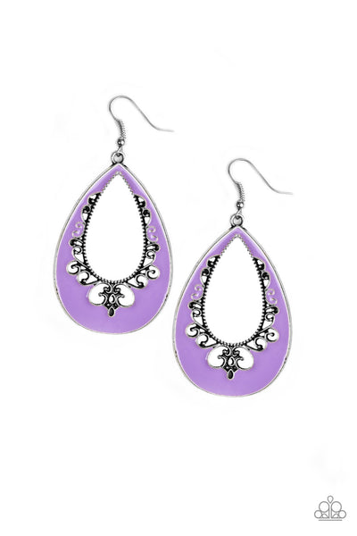 Paparazzi Compliments To The CHIC - Earrings Purple Box 8