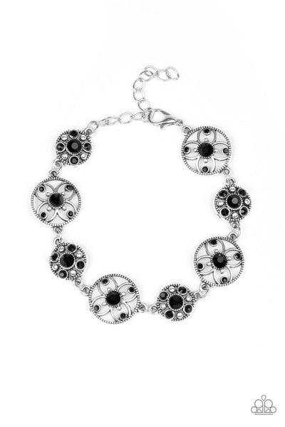 Paparazzi Flowery Fashion - Bracelet Black Box 4