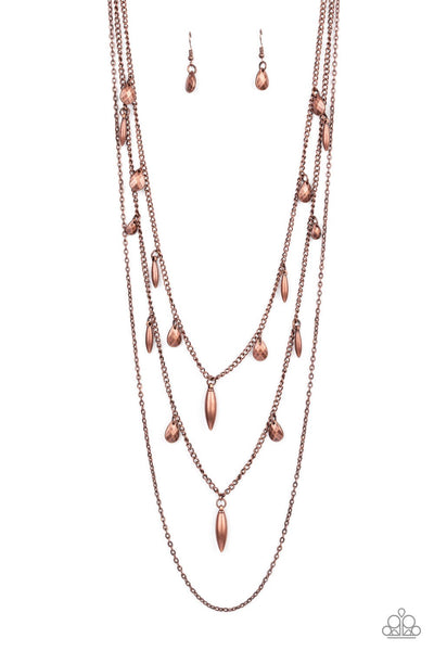 Paparazzi Bravo Bravado - Necklace Copper Box 82