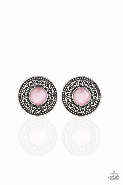 Paparazzi Fine Floral - Earrings Pink Box 84