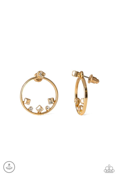 Paparazzi Top-Notch Twinkle - Earrings Gold Box 76