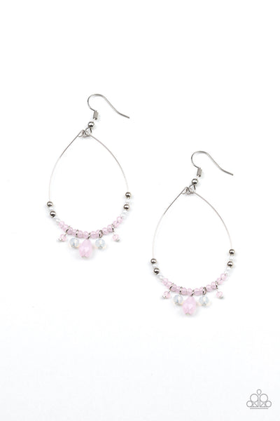 Paparazzi Exquisitely Ethereal - Earrings Pink Box 53