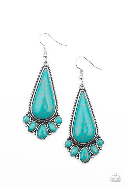 Paparazzi Rural Recluse - Earrings Blue Box 79