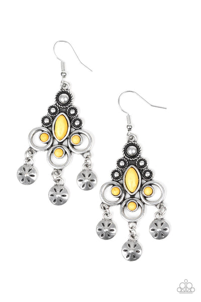 Paparazzi Southern Expressions - Earrings Yellow Box 37
