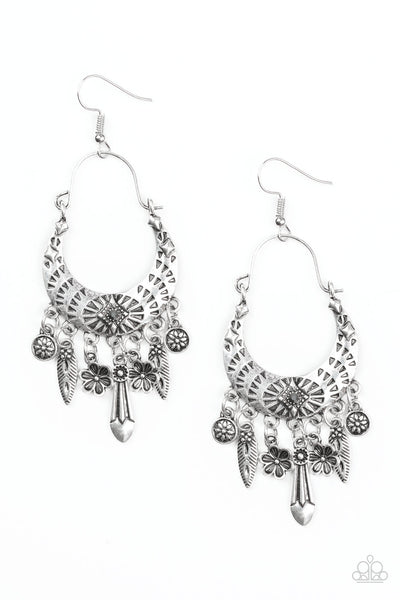 Paparazzi Nature Escape - Earrings Silver Box 10