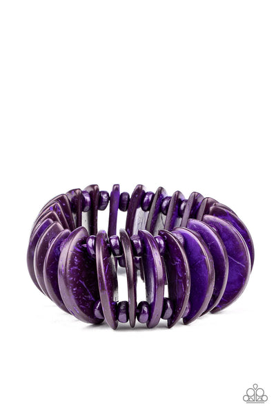 Paparazzi Tropical Tiki Bar - Bracelet Purple Box 63