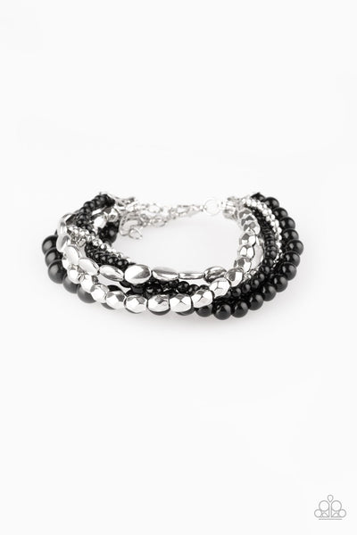 Paparazzi Metro Mix Up - Bracelet Black Box 45