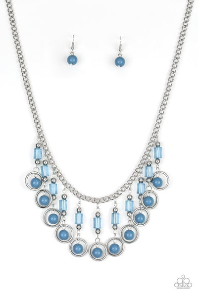 Paparazzi Cool Cascade - Necklace Blue Box 9