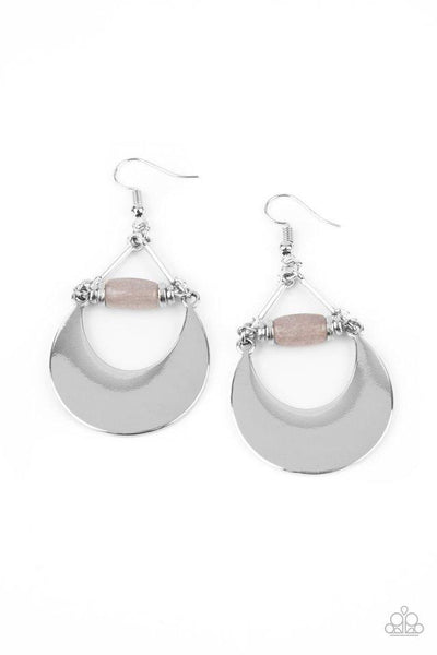 Paparazzi Mystical Moonbeams - Earrings Silver Box 82