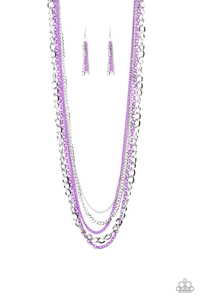 Paparazzi Industrial Vibrance - Necklace Purple Box 47