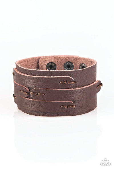 Paparazzi In Or OUTLAW - Urban Bracelet Brown Box 85