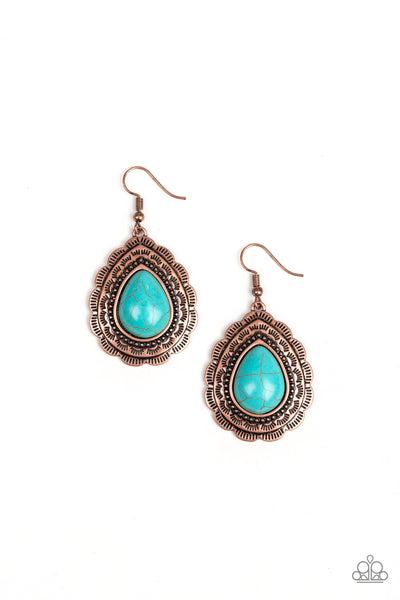Paparazzi Mountain Mover - Earrings Copper Box 63