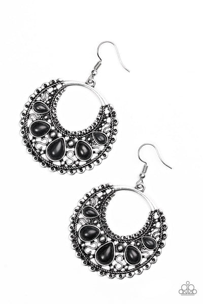 Paparazzi Desert Springs - Earrings Black Box 15