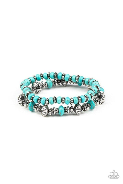 Paparazzi Cactus Quest - Bracelet Blue Box 87