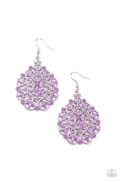 Paparazzi Floral Affair - Earrings Purple Box 22