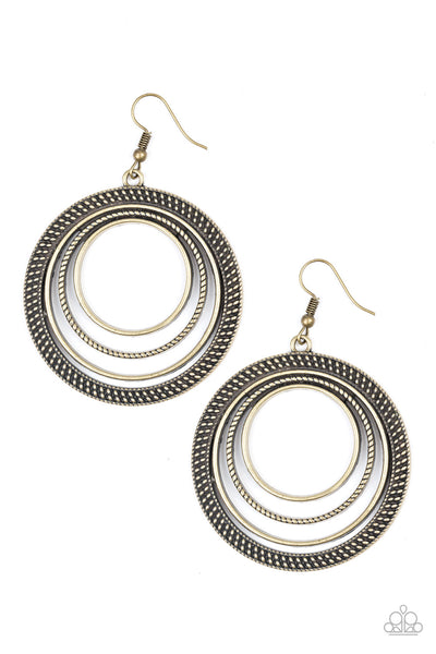 Paparazzi Totally Textured - Earrings Brass Box 2