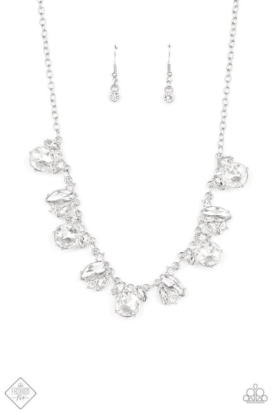 Paparazzi BLING to Attention - Necklace White Box 63