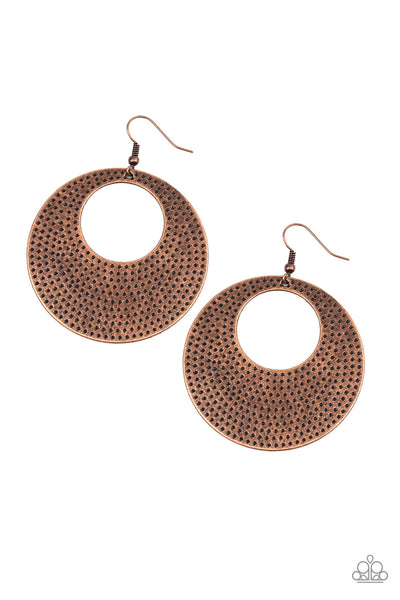 Paparazzi Dotted Delicacy - Earrings Copper Box 4