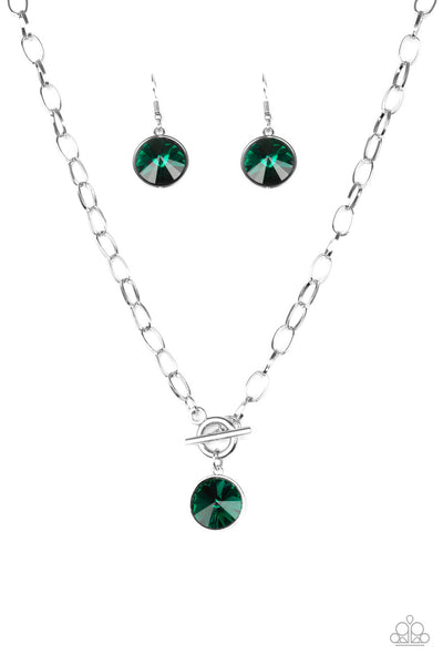 Paparazzi She Sparkles On - Necklace Green Box 3