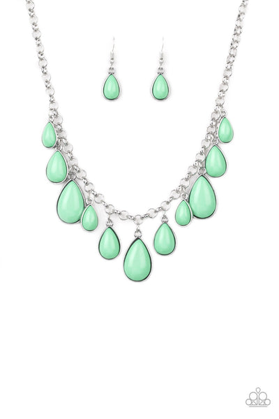 Paparazzi Jaw-Dropping Diva - Necklace Green Box 20
