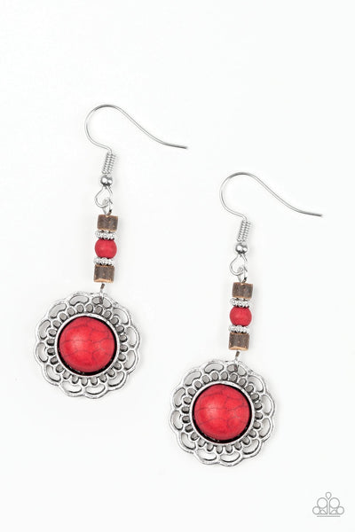 Paparazzi Desert Bliss - Earrings Red Box 84