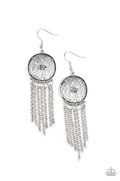 Paparazzi Blissfully Botanical - Earrings Silver Box 82