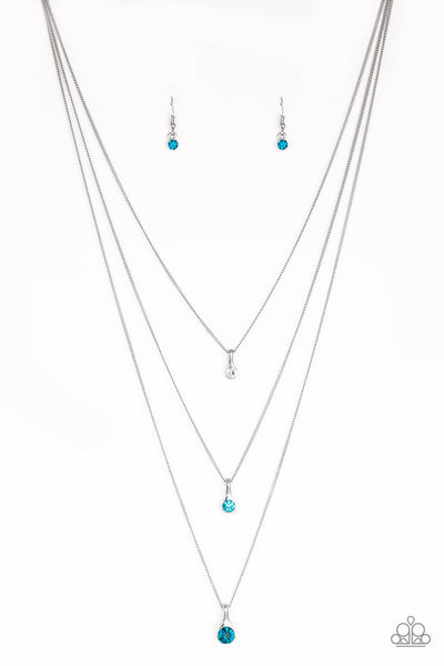 Paparazzi Crystal Chic - Necklace Blue Box 5